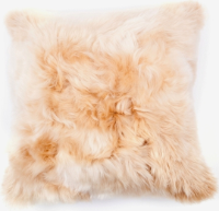Suri Alpaca Fur Pillow, Beige
