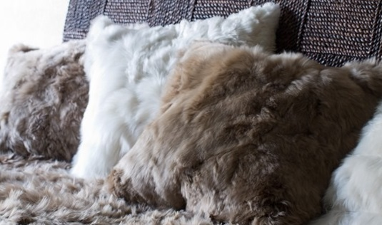 Suri Pillows and throw - Alpaca fur, fur pillow, throw pillows, fur cushion, Alpaca pillows