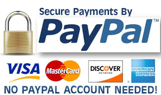 Secure payment through Paypal.